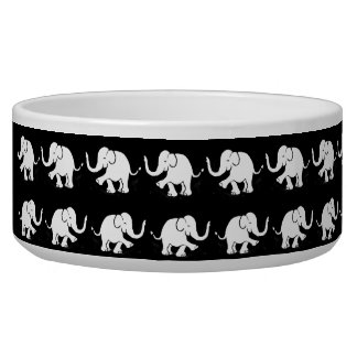 Black and White Baby Elephants Parades