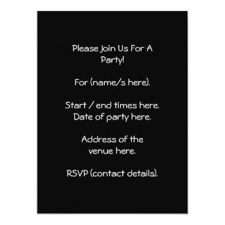Black and White Baby Stroller. 6.5x8.75 Paper Invitation Card