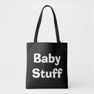 Black and White Baby Stuff Diaper Bag