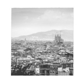 Black and White Barcelona Notepads