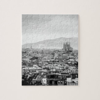 Black and White Barcelona Puzzles