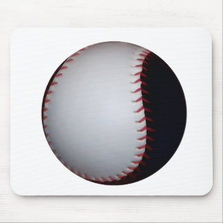 Black and White Baseball / Softball Mouse Pad