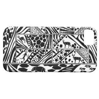 Black and white Batik style I phone case