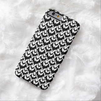 Black And White Bats Goth Halloween Pattern Barely There iPhone 6 Case
