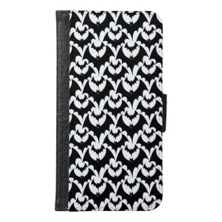Black And White Bats Goth Halloween Pattern Design Samsung Galaxy S6 Wallet Case