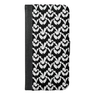 Black And White Bats Goth Halloween Pattern iPhone 6/6s Plus Wallet Case