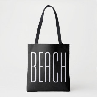 Black and White Beach Bag