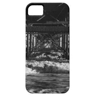 Black and white beach phone case