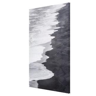 Black and white beach scenic canvas print