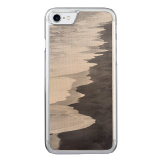 Black and white beach scenic carved iPhone 7 case