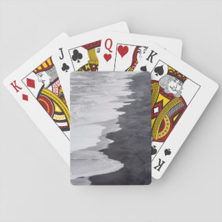 Black and white beach scenic playing cards