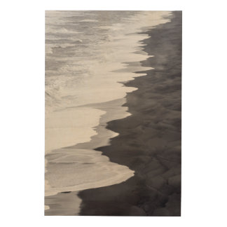 Black and white beach scenic wood wall decor