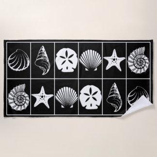 Black and White Beach Towel Designs