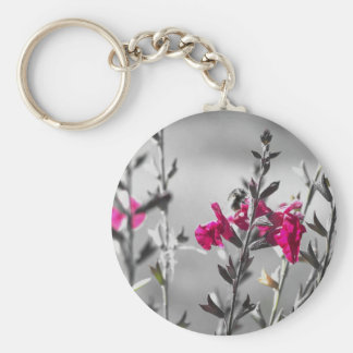 Black and White Bee Key Ring