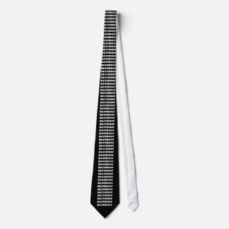 Black and White BEST BOSS Tie - Bold Letters
