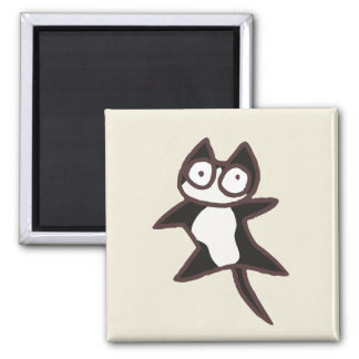 Black and White Bicolor Cat Magnet