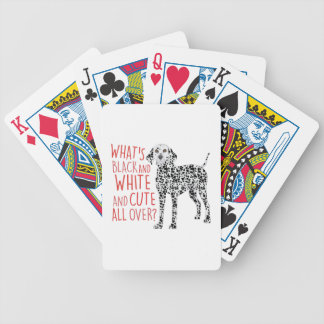 Black And White Bicycle Playing Cards