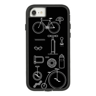 Black and White Bicycle Print Cycling Icons Design Case-Mate Tough Extreme iPhone 8/7 Case