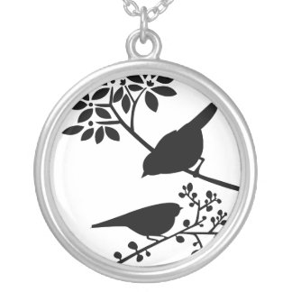 Black and White Birds Pendants