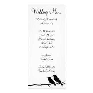 Black and White Birds Wedding Menu