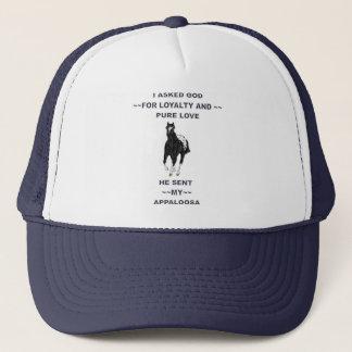 Black and White Blanket Appaloosa Trucker Hat