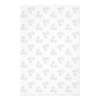 Black and white blossom personalised stationery