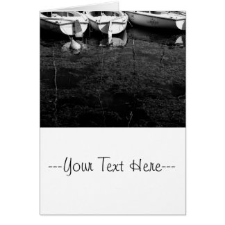Black And White Boats In Water Greeting Card