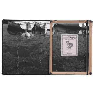 Black And White Boats In Water iPad Cases