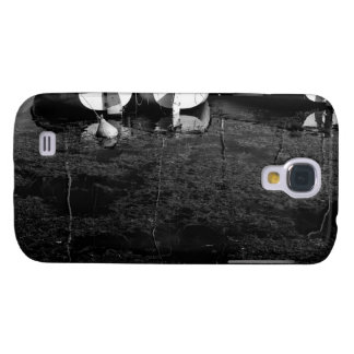 Black And White Boats In Water Samsung Galaxy S4 Cover