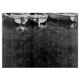 Black And White Boats In Water