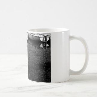 Black And White Boats In Water Coffee Mug