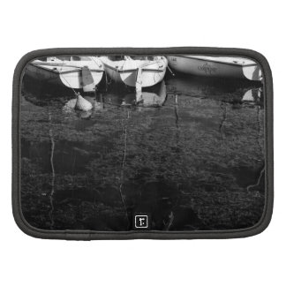 Black And White Boats In Water Folio Planners