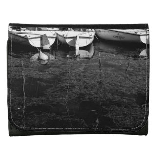 Black And White Boats In Water Wallet