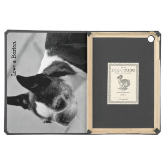 Black and White Boston Terrier iPad Air Cover