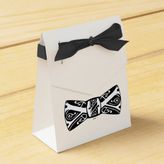 Black and White Bow Tie Favour Box