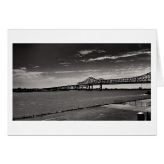 Black and White Bridge Greeting Card