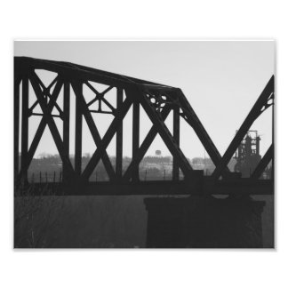 Black and White Bridge Photo Print