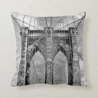 Black and White Brooklyn Bridge Cushion