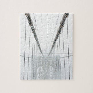 Black and White Brooklyn Brige Jigsaw Puzzle