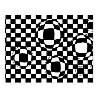 Black and White Bubbles Postcard