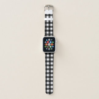 Black and White Buffalo Check Apple Watch Band