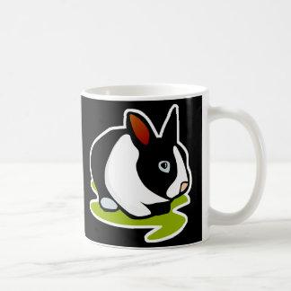 black and white bunny rabbit basic white mug