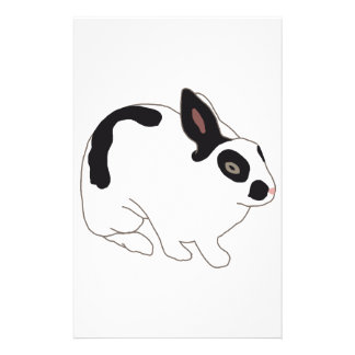 Black and White Bunny Rabbit Stationery Design