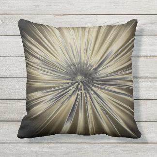 Black and White Burst Cushion