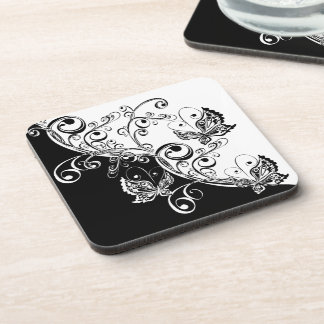 Black and White Butterflies Coasters (set of 6)