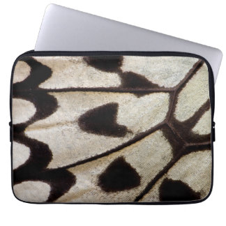 Black and white butterfly wing laptop sleeve