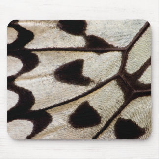Black and white butterfly wing mouse pad