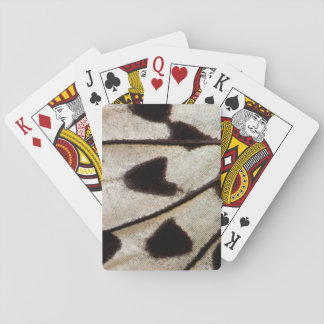 Black and white butterfly wing playing cards