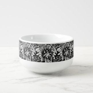 Black and White Cactus Flower Soup Mug