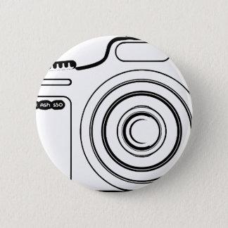 Black and white camera 6 cm round badge